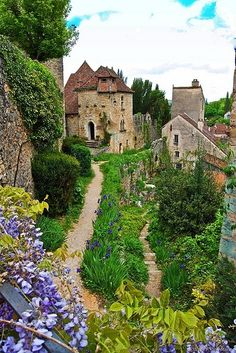 The medieval village Saint-Cirq-Lapopie in France.