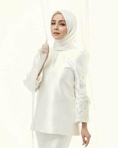 Muslimah Wedding Dress, Muslim Wedding Dresses, Muslim Brides, Dream Wedding Dresses, Bridal Collection, Dress Collection, Kebaya Modern Dress, Malay Wedding Dress, Akad Nikah