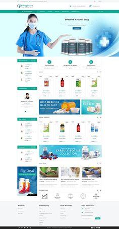 Site Web Design, Ecommerce Website Design, Website Design Layout, Website Design Inspiration, Online Themes, Pharmacy Design, Wordpress Theme Design, Ui Web, Website Themes
