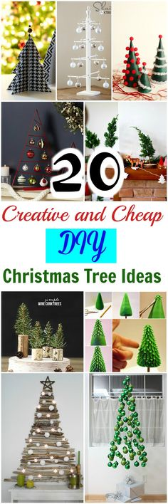 I have made a gallery of 20 creative and cheap #DIYChristmastree ideas for your inspiration.