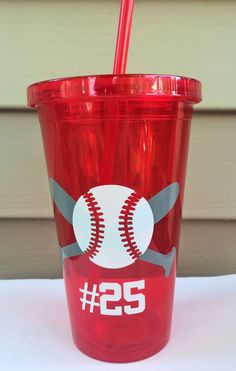 Baseball  Tumbler for your All Star by PersonalizedbyDawn on Etsy, $11.00