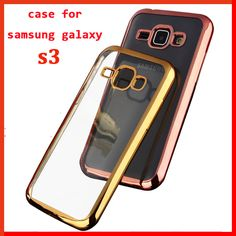 luxury phone coque case cover for samsung galaxy s3 s 3 neo i9300 back original soft tpu Clear case for samsung s3 cases gold 3 Price: USD 2.84 | UnitedStates