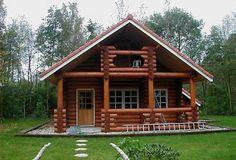 Mais uma opção de usar os troncos na construção, mas  de um modo diferente, já que o chalézinho segue o estilo de uma casa simples.