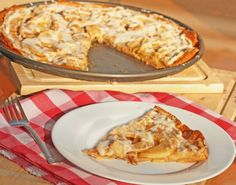 Apple Pizza (use gluten free dough and flour)
