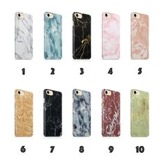 New Phone Hard Cases Covers Marble Designs for iPhone 6, 6S, 7 models !!
