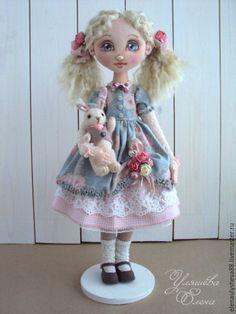 Купить Алиса - голубой, нежный, кукла ручной работы, кукла авторская, интерьерная кукла, подарок