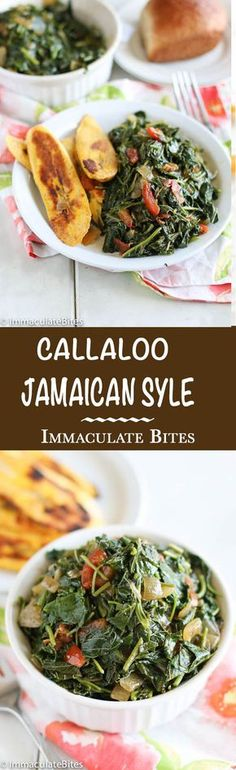 Callaloo Jamaican Style - A vibrant, healthy and fresh way of cooking leafy vegetables. Quick, easy and delicious!