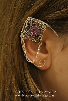 Elvish earring • ear cuff • elvish ear - PURPLE on Etsy, 9,00 €.  How funky is this?  I just love it.