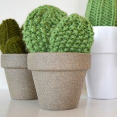 No water needed. This knit cacti pattern will make anyone want to be a plant person