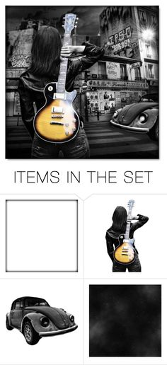 """A Girl and Her Guitar"" by debraelizabeth ❤ liked on Polyvore featuring art"