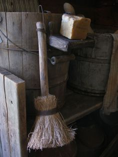 Sweet Liberty Homestead primitive early style hand whisk broom