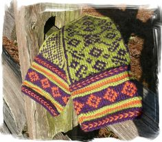 Love the colors -  Folklore Mittens PATTERN English or Norwegian text. $6.00, via Etsy.
