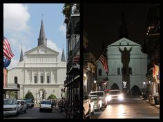 St. Louis Cathedral - Day & Night : French Quarters, New Orleans