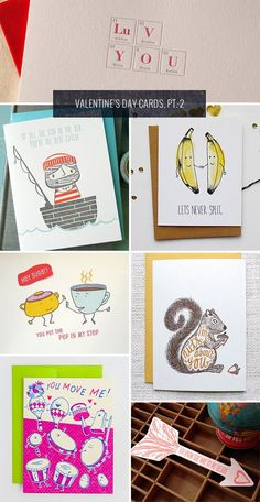 I'm such a sucker for a punny card, and the Valentine's Day cards in this roundup feature visual puns and illustrations that make them that much more endearing. Here, check 'em out: Above, clockwis...