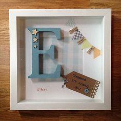 Personalised Birth, New Baby, Christening Girl & Boy Frames Gift / Keepsake
