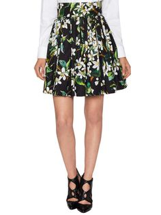Floral Pleated Skirt by Dolce