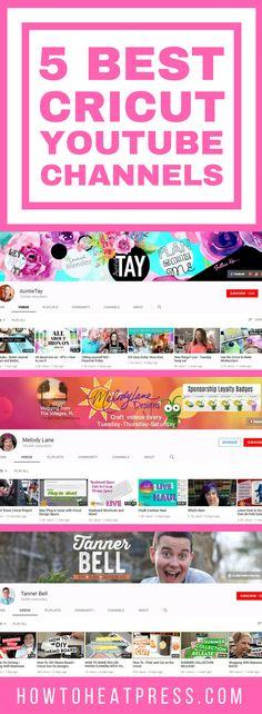 5 Best Cricut YouTube Channels