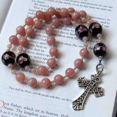 Anglican Rosary Pink Peruvian Opal with by TouchingPrayers on Etsy.