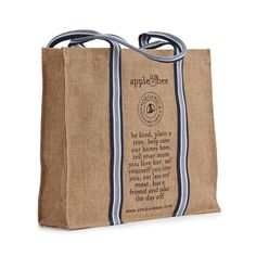 Apple and Bee : environmentally friendly products. Totes, bags, purses and more. Fun branding and marketing approach. Their eco totes are a favorite.