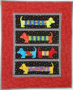"""Hot Dogs, 32 x 40"""", pattern by Susan Claire at Gourmet Quilter"""