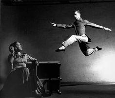 Dancers Martha Graham and Merce Cunningham by Philip Halsman, 1947.