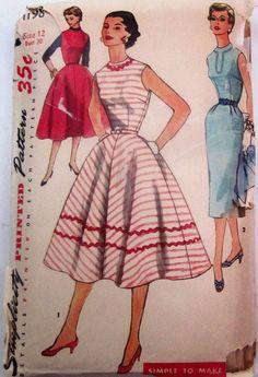Simplicity 1198 - 1950 Ladies Summer Day Dress