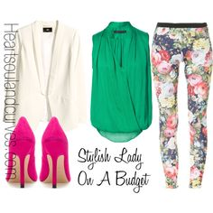 """Stylish Lady On A Budget"" by adoremycurves on Polyvore"