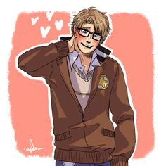 So Sparce was being wooed by an Alfred and I drew a thing Alfred Jones, Hetalia America, Hetalia Axis Powers, Bright Stars, Mystic Messenger, Fangirl, Fandoms, Hero, History