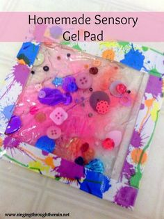 DIY Sensory Gel Pad | As a wife and stay-at-home mother of two special needs children, I'm always looking for ways to save money while still providing my children with all the tools they need to learn and be happy. Both of my sons have sensory processing issues so we do a lot of sensory play and crafts in our home. This was a nice idea and a great activity for them to help me make as well!