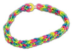 Crafts Direct Project Idea: Neon Inverted Fishtail Loom Band Bracelet. More loom band ideas here: http://craftsdirect.com/loombands