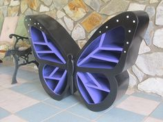 Bookshelf: Butterfly Shelf  This is too cute and perfect for a girl's bedroom (my nieces love it).