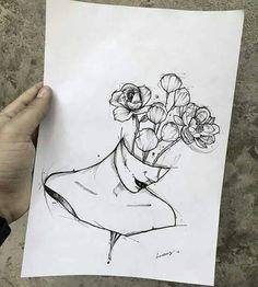 Ear Piercing Ideas For Females Imagen de Drawing and Flower .- Ear Piercing Ideas For Females Imagen de Zeichnung und Blumen – Pinspace Ear Piercing Ideas For Females Imagen de drawing and flowers – - Art Drawings Sketches, Sketch Art, Tattoo Sketches, Drawing Art, Unique Drawings, Drawing With Pen, Ideas For Drawing, Tumblr Art Drawings, Drawing Tattoos
