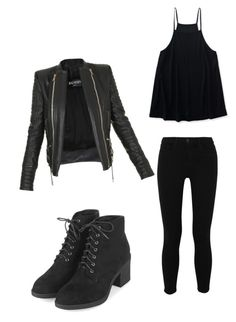 """""""Untitled #76"""" by caballerobianca123 on Polyvore featuring L'Agence, Aéropostale, Topshop and Balmain"""
