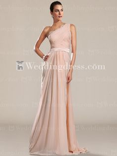 Stunning Chiffon One-Shoulder Prom Dress PR039N/ See more detail here: http://www.inweddingdress.com/celebrity-prom-dresses-pr039.html  #promdresses