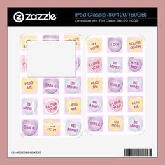 Candy Hearts ipod skin