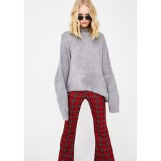Oversized Knit Sweater ($38) ❤ liked on Polyvore featuring tops, sweaters, grey, oversized sweaters, over sized sweaters, oversized grey sweater, gray sweater and oversized knit tops
