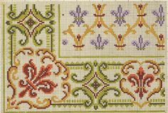 Dmc Cross Stitch, Cross Stitch Borders, Cross Stitch Flowers, Counted Cross Stitch Patterns, Cross Stitch Designs, Cross Stitching, Cross Stitch Embroidery, Bead Crochet Rope, Crochet Cross