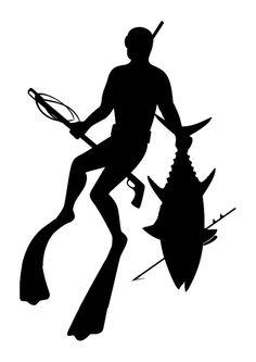 Spearfishing por BullyGraphix en Etsy