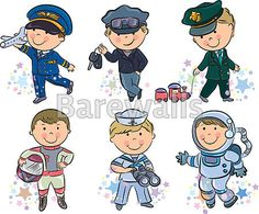 Art Print of Professions kids set Contains transparent objects. Search 33 Million Art Prints, Posters, and Canvas Wall Art Pieces at Barewalls. Kids Vector, Vector Free, Cartoon Kids, Cute Cartoon, Drawing For Kids, Art For Kids, Dramatic Play Centers, Beach Kids, People Illustration
