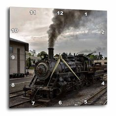 Imax home 68171 world map suitcase clock home decor clocks desk 3drose photo of a steam engine wall clock 15 by 15 inch gumiabroncs Choice Image