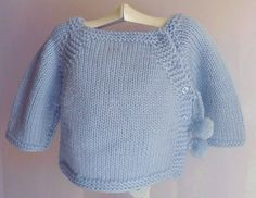 jersey bebe - Buscar con Google Baby Sweater Knitting Pattern, Baby Knitting Patterns, Knitting Designs, Baby Patterns, Cardigan Bebe, Baby Cardigan, Diy Crafts Knitting, Knitting For Kids, Tricot Baby