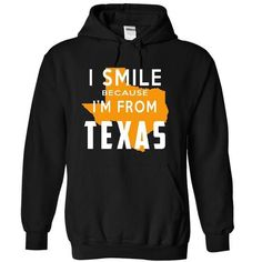 I Smile Because I am From Texas Hoodie Thanhd - #tee verpackung #tshirt bag. SATISFACTION GUARANTEED => https://www.sunfrog.com/Sports/I-Smile-Because-I-am-From-Texas-Hoodie-Thanhd-7126-Black-62ak-Hoodie.html?68278