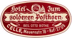 Germania - Celle - Hotel Goldenen Posthorn by Luggage Labels