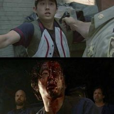 The Walking Dead Season 7 Ep. 1 'The Day Will Come When You Won't Be' Glenn's first and last appearance