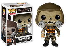 Cabezón Scarecrow (Espantapájaros), Batman Arkham Knight, Funko POP 9cm Cabezón de 9cm, creado por Funko, del personaje de Scarecrow (Espantapájaros), perteneciente al videojuego Batman Arkham Knight.