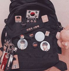 Uploaded by kei. Find images and videos about cute, kpop and bts on We Heart It - the app to get lost in what you love. Mochila Kpop, Mochila Do Bts, Mochila Grunge, Bts Bag, Army Room Decor, Aesthetic Backpack, Kpop Diy, Bts Clothing, Mode Kpop