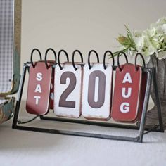 Vintage Free Standing Perpetual Calendar - The Wedding of My Dreams