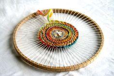 Round Weaving Loom for Children - wooden loom children chraft weavingloom