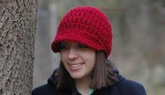 Crochet PATTERN  Newsboy Visor Hat  Easy Beginner by PoshPatterns, $3.99