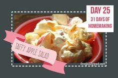 Taffy Apple Salad - A fruit salad like no other. Forget about those salads with…